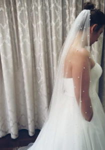 medium 1 tier pearl veil